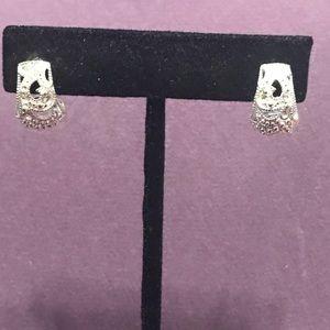 Small blingy half hoop post earrings. 2/$10 Sale